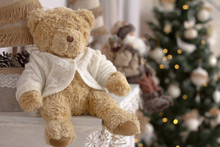 Close-up Toy Teddy Bear On A M...