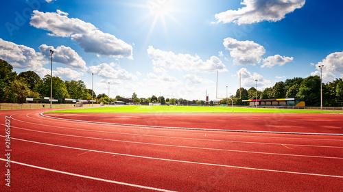 Fotografie, Obraz Red running track in stadium