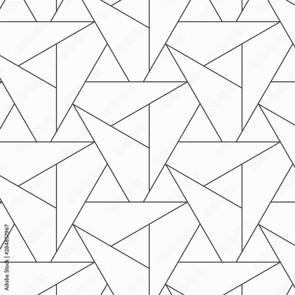 Fototapeta Pattern with thin lines triangles repeating with poligons and geometric shapes and stylish fractal texture. Pattern is on swatches panel