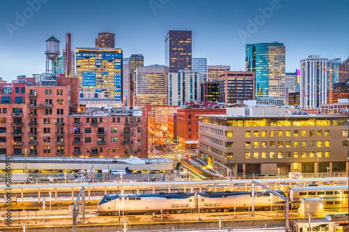 Obraz Denver, Colorado, USA Cityscape - fototapety do salonu