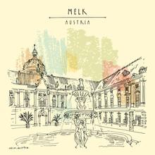 Melk, Lower Austria. Austria, ...