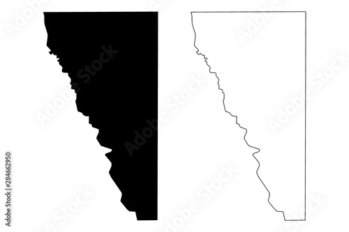 Maverick County, Texas (Counties in Texas, United States of America,USA, U Wallpaper Mural