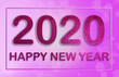 Leinwanddruck Bild - Happy New Year 2020