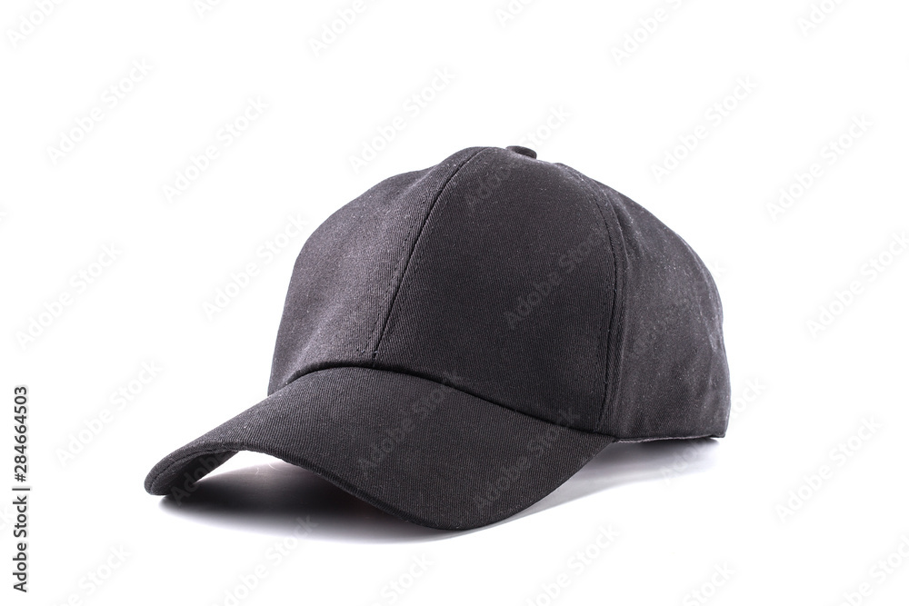 Fototapety, obrazy: black cap isolated on white background