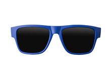 Blue Sunglasses Isolated On White Background