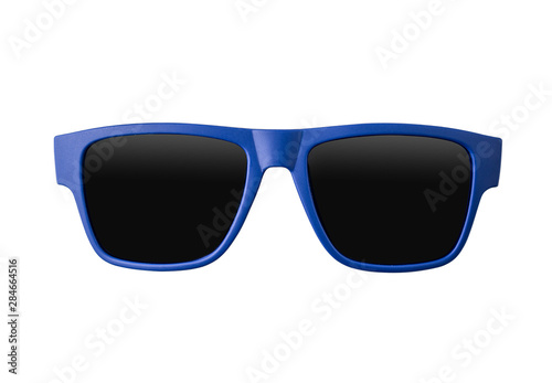 obraz lub plakat Blue sunglasses isolated on white background