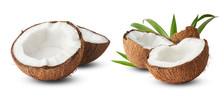Set With Fresh Raw Coconut Wit...