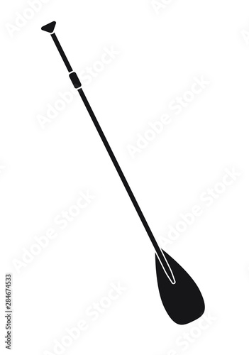 Obraz na płótnie Vector flat black paddle isolated on white background