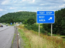 Text Stop Rest Area Sign Fight...