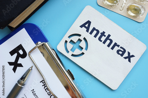 Photo Writing note showing Anthrax
