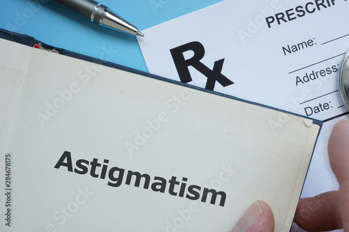Text sign showing Astigmatism Wallpaper Mural