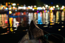Lights At Night, On The Boat, In HoiAn, Vietnam