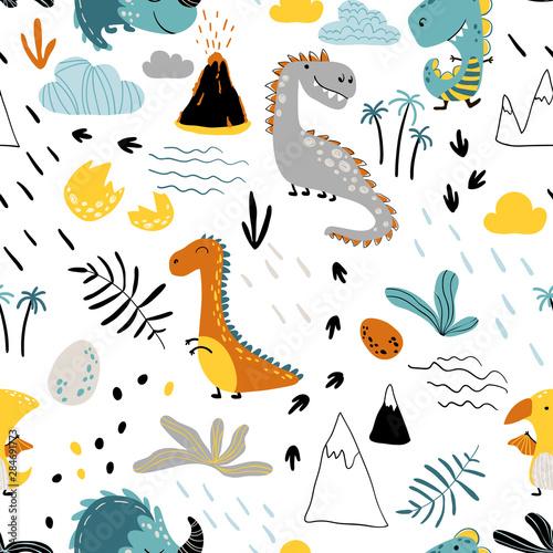 ladny-wzor-z-roznorodnymi-dinozaurami