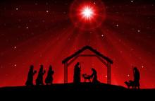 Christmas Nativity Scene Black...
