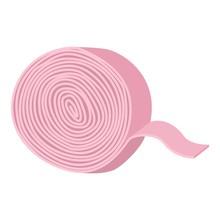 Gum Ribbon Icon. Cartoon Of Gu...