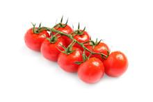 Branch Of Fresh Cherry Tomatoe...