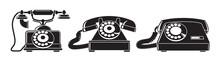 Old Phones. Set Of Vintage Pho...