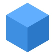 Blue Smart Cube Icon. Isometric Of Blue Smart Cube Vector Icon For Web Design Isolated On White Background