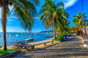 Seafront of Brigitte Bardot in Buzios, Rio de Janeiro. Brazil