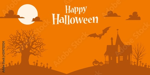 Keuken foto achterwand Halloween Orange Halloween background template
