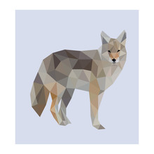 Low Poly Wild Vector Wolf