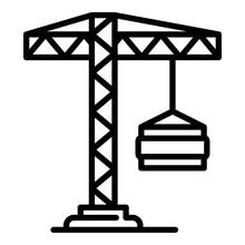 Load Crane Icon. Outline Load ...