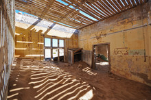 Inside An Abandoned House In The Mining Ghost Town Of Kolmanskop In Namibia
