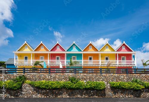 Views around Curacao a small Caribbean island Canvas Print