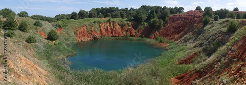 Otranto Bauxite Pond is an abandoned mining quarry for the extraction of bauxite Wallpaper Mural