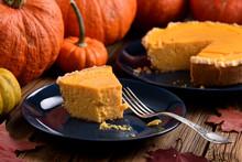 Homemade Open Pumpkin Pie Bein...
