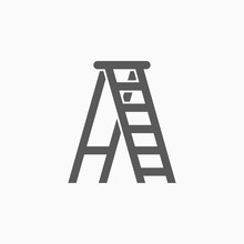 Ladder Icon, Stepladder Vector