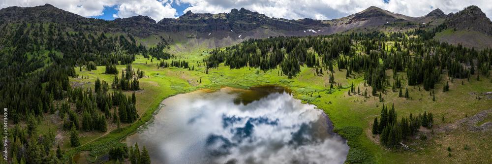 Fototapety, obrazy: Alpine Mountain Lake in Montana - Hyalite Lake, Gallatin Range, Rocky Mountains