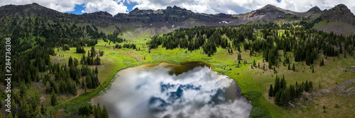 Alpine Mountain Lake in Montana - Hyalite Lake, Gallatin Range, Rocky Mountains Wallpaper Mural