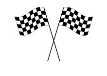 Racing Checkered Flag Isolated...