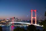 Istanbul bosphorus bridge at sunset