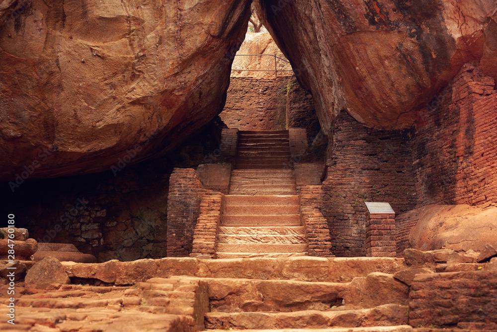 Fototapeta The ancient ruins of Sigiriya in Sri Lanka. The area around the famous cliff.