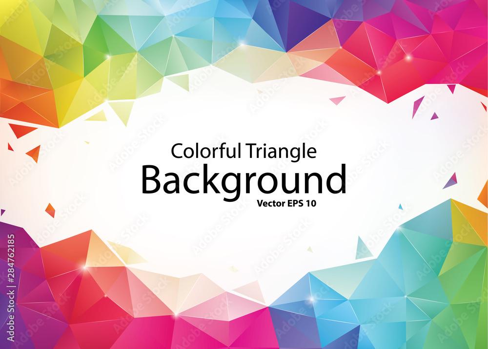 Fototapeta Colorful Geometric Triangle Background
