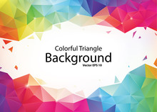 Colorful Geometric Triangle Ba...
