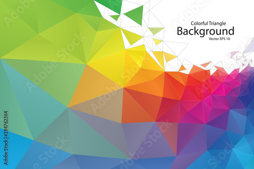 Colorful Geometric Triangle Background #284762364