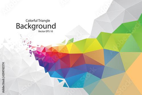 Stampa su Tela  Colorful Geometric Triangle Background
