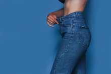 Skinny Woman Body With Loose P...