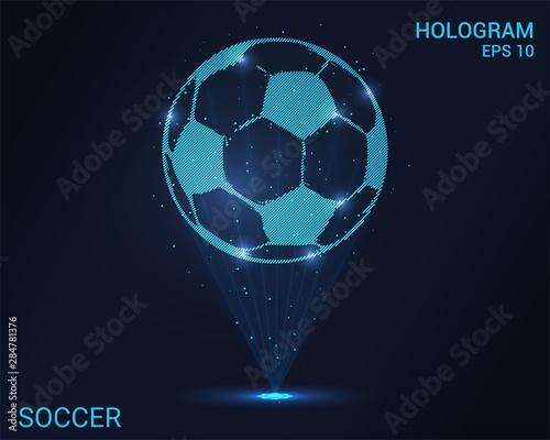 Photo Hologram ball soccer