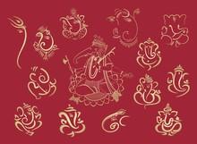 Ganesha, Aum, Traditional Hindu Wedding Card, Rajasthan, Royal India