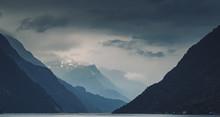 Panorama Of Gloomy Cloudy Norw...