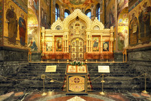 Saint Petersburg, Russia - August 10, 2018: Interior Of Church Of The Savior On Spilled Blood In Saint Petersburg, Russia