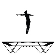 Straight Jump On A Trampoline ...
