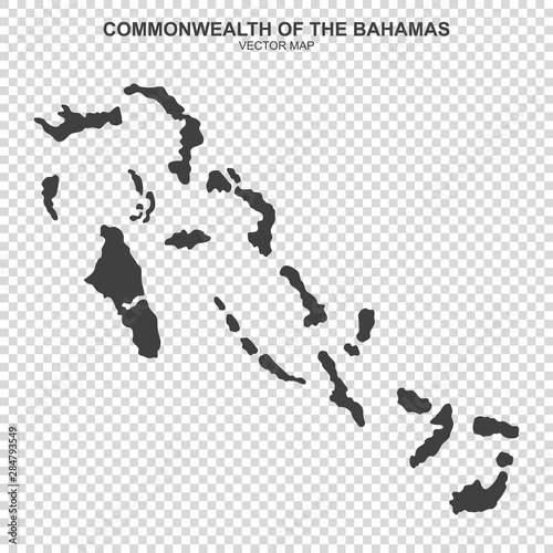 Photo vector map of bahamas on transparent background