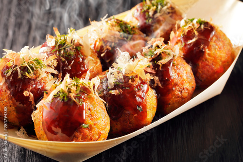 Photo  たこ焼き Japanese food Takoyaki