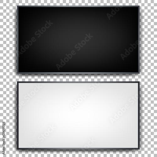 Cuadros en Lienzo Flat tvs on a transparent background