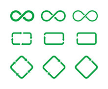 Set Of Different Icons Represe...